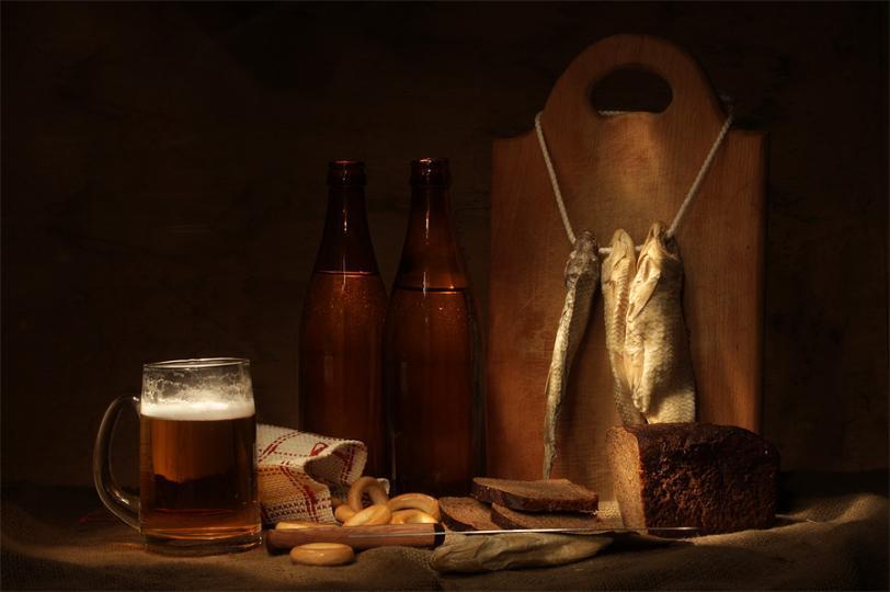 Красивые картинки натюрморт рисунок пиво