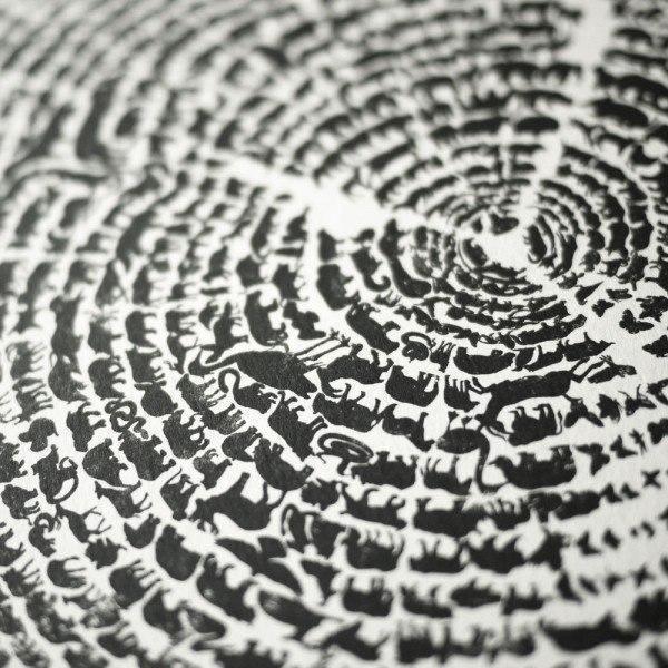 Арт  прямые руки Древо жизни
