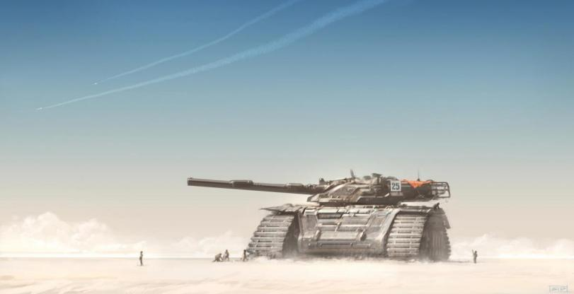 Красивые картинки Арт Sci-fi танк