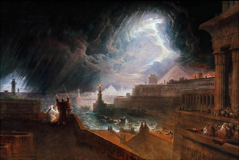 John Martin Живопись Библейские мотивы