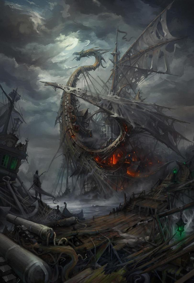 Красивые картинки Арт Корабль