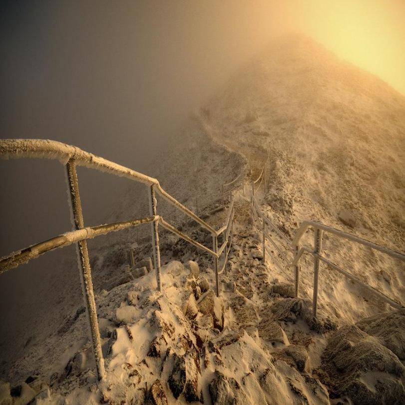 Пейзаж Зима Лучше гор могут быть только горы