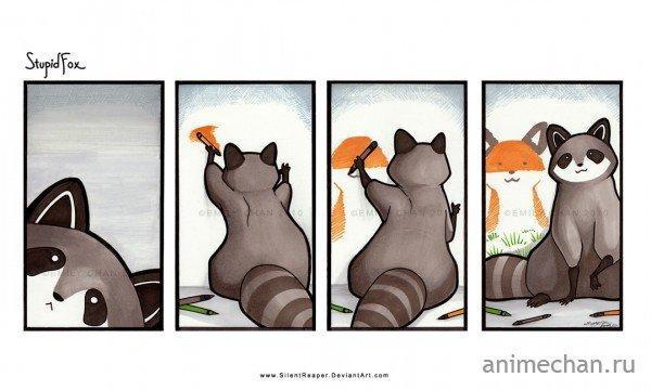 Комиксы Милота Stupid Fox