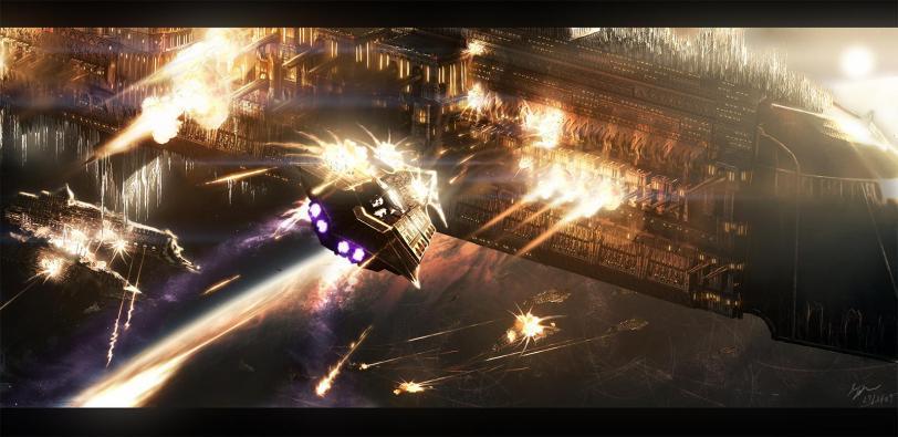 Космос Warhammer 40K битва