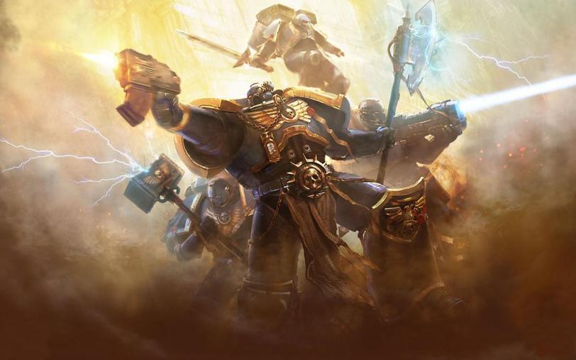 Арт Warhammer 40K пафос и превозмогание Ультрамарины