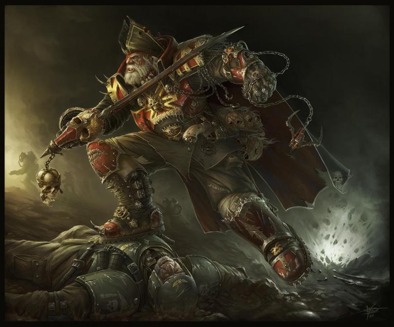 Арт Warhammer 40K Хаос пираты
