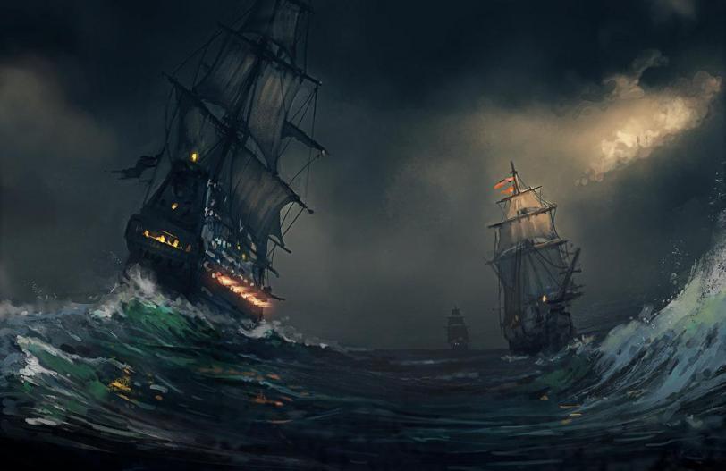 Красивые картинки Арт Корабль парусник