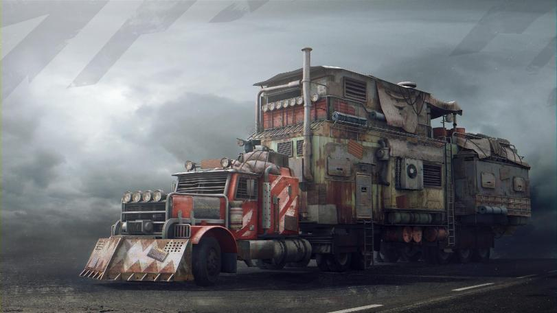 Красивые картинки Арт грузовик тюнинг Постапокалипсис
