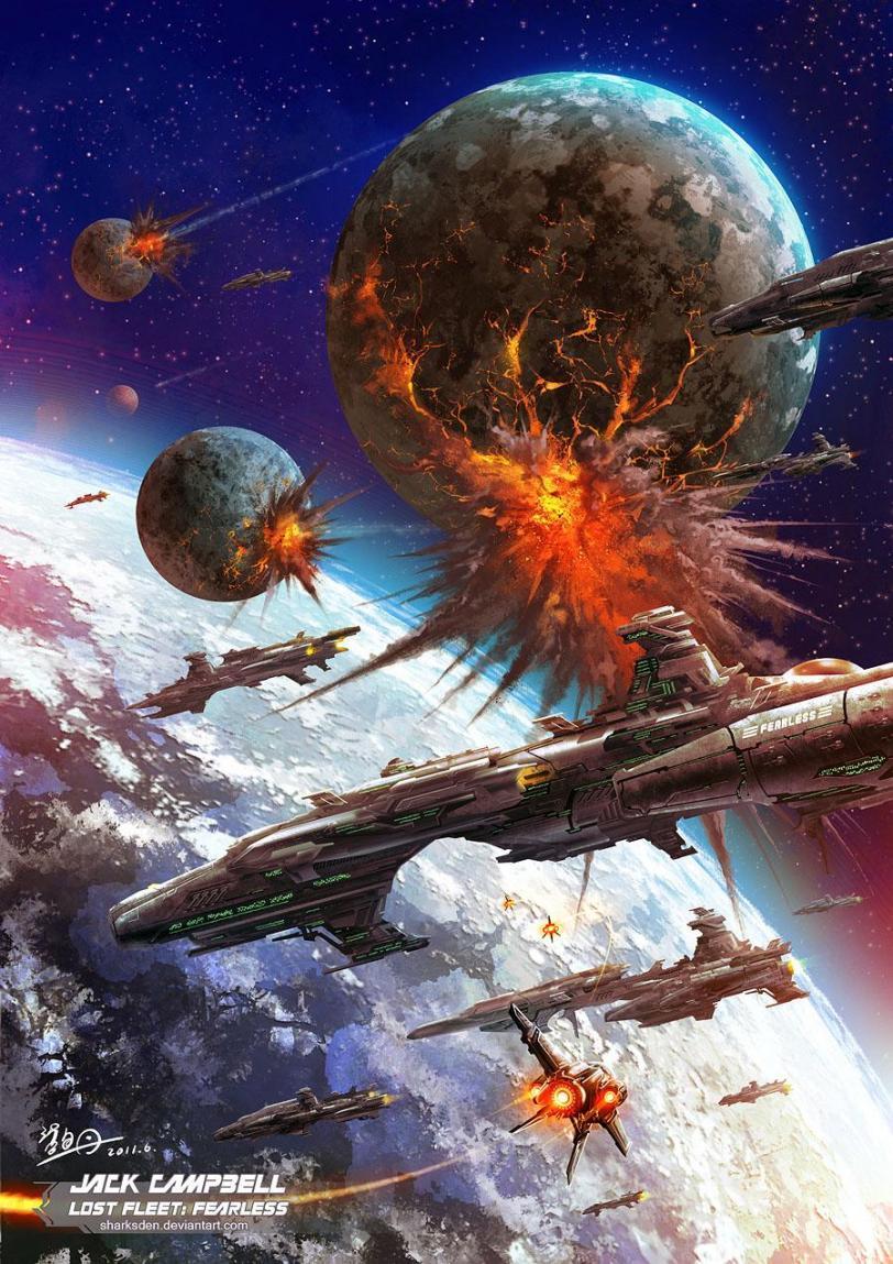 Красивые картинки Арт Sci-fi Космос битва