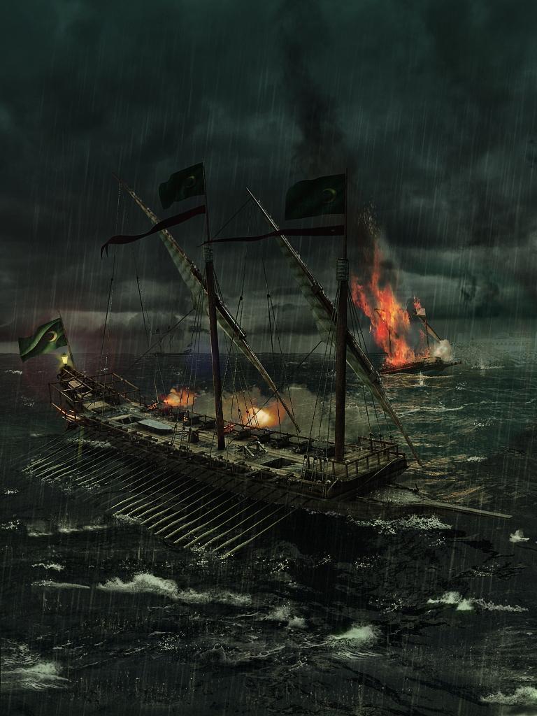 Арт Корабль пираты Мрачные картинки галера