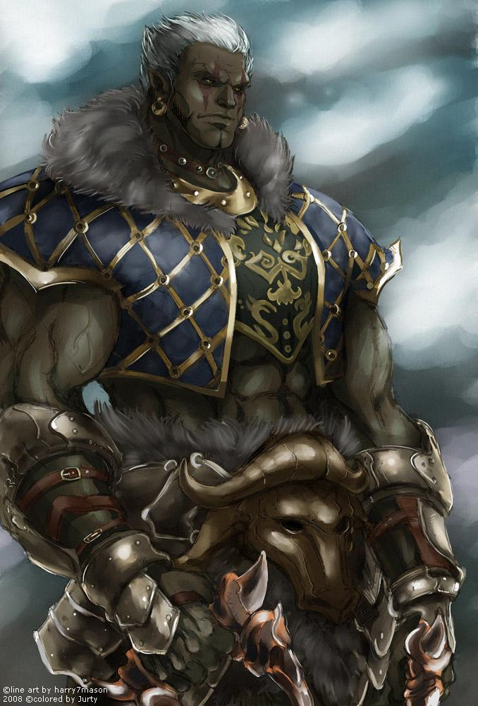 Красивые картинки Арт Фэнтези Lineage orc tyrant