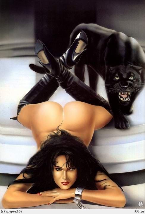 Красивые картинки Девушка пантера