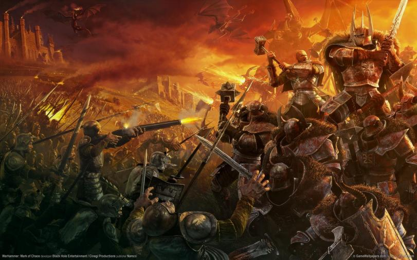 Арт пафос и превозмогание Хаос битва Warhammer FB Империя