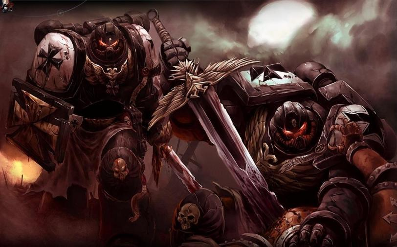 Арт Warhammer 40K Империя Black templars