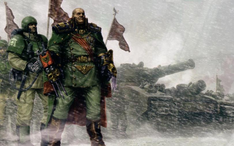 Арт Warhammer 40K Империя имперская гвардия Imperial Guard кадианцы