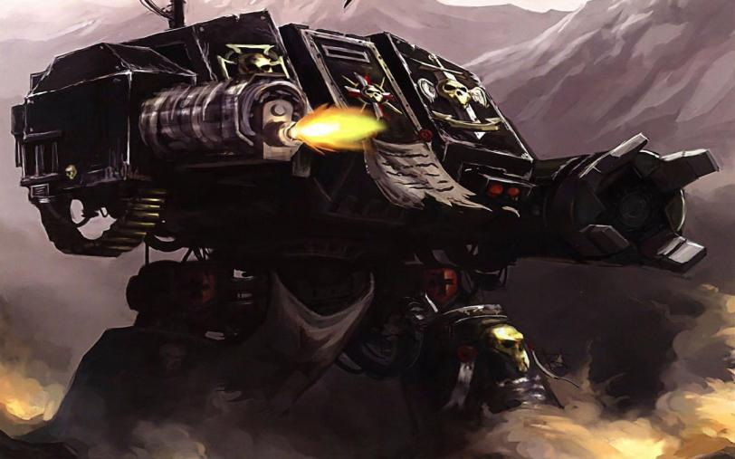 Арт Warhammer 40K Империя Black templars dreadnought