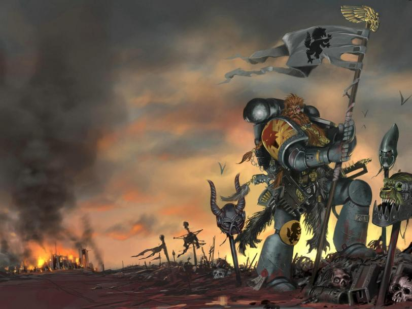 Арт Warhammer 40K Империя Space Wolves