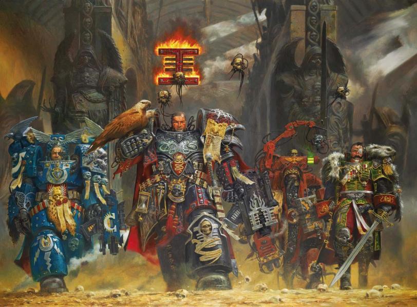 Арт Warhammer 40K Империя Инквизиция