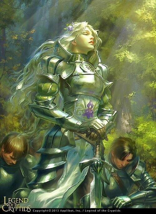 Красивые картинки Арт Девушка Legend of the Cryptids Игры