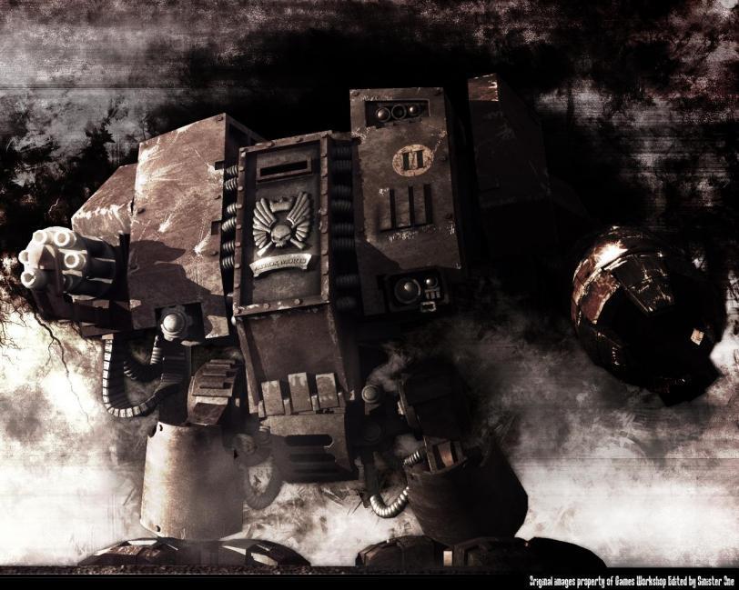 Арт Warhammer 40K дредноут