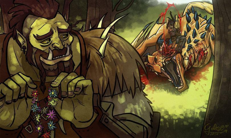 Арт Милота TES The Elder Scrolls Орки