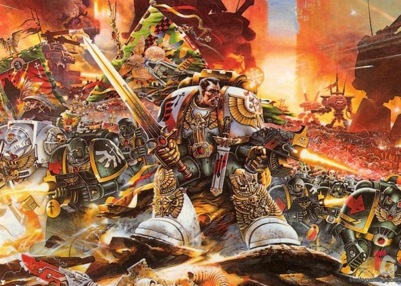 Арт Warhammer 40K пафос и превозмогание Империя