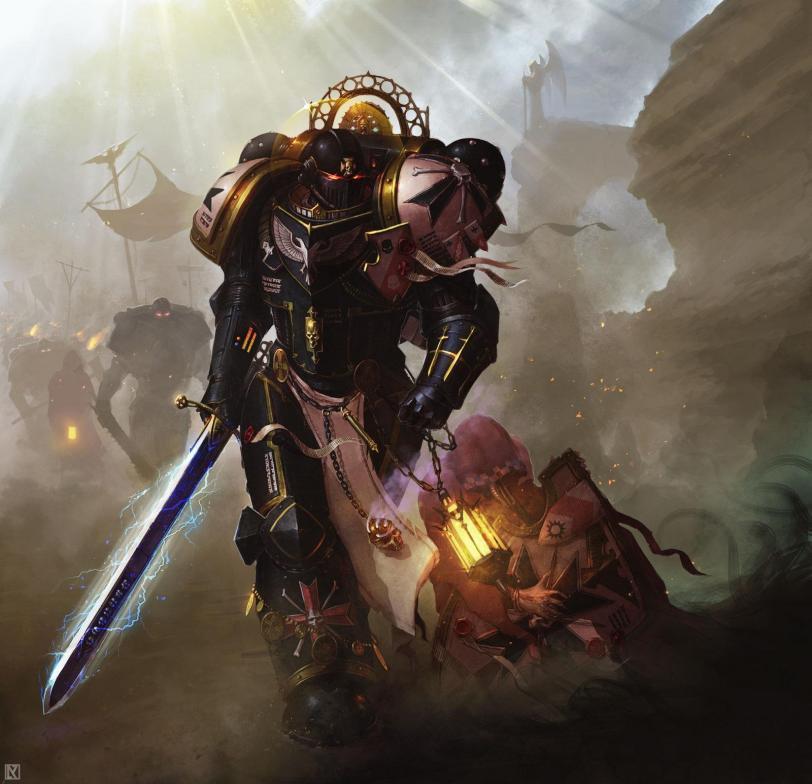 Арт Warhammer 40K Black templars