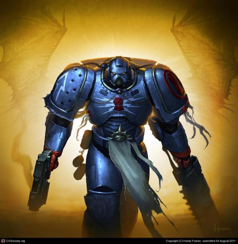 Арт Warhammer 40K Империя Crimson Fists