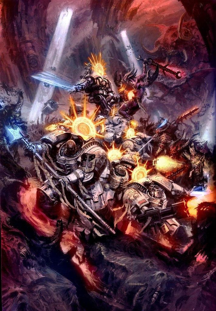 Арт Warhammer 40K пафос и превозмогание Хаос битва Империя