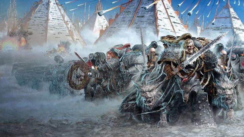 Арт Warhammer 40K пафос и превозмогание Империя Space Wolves Necrons