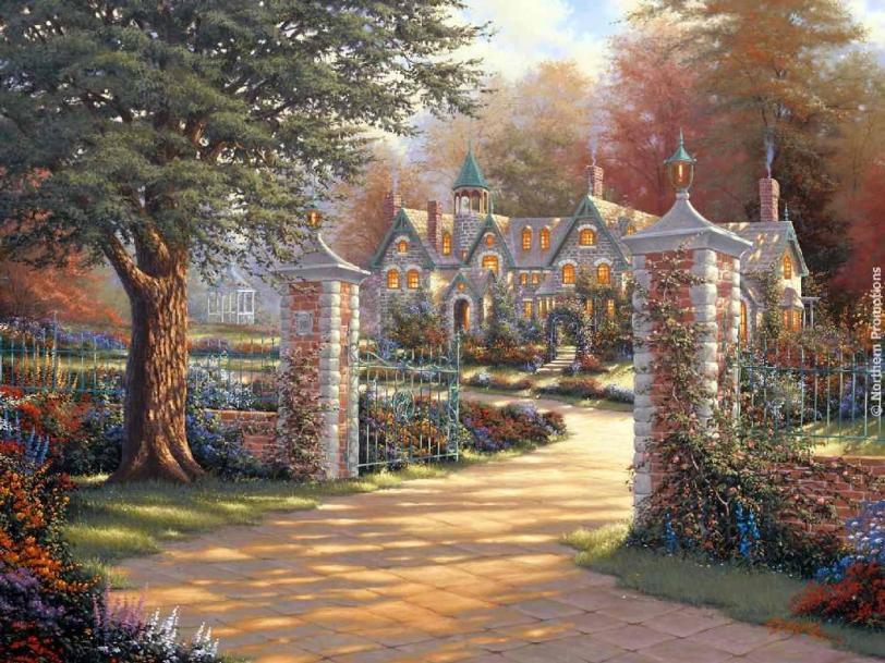 Красивые картинки Арт Природа парк особняк