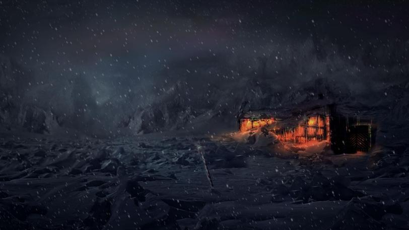 Арт Зима Фэнтези Мрачные картинки снег метель
