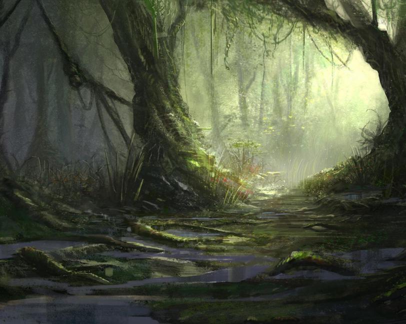 Красивые картинки Арт Фэнтези джунгли болото