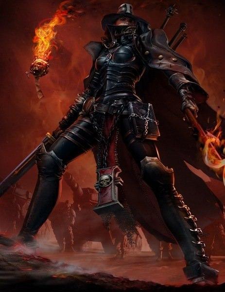 Красивые картинки Арт Девушка Warhammer FB