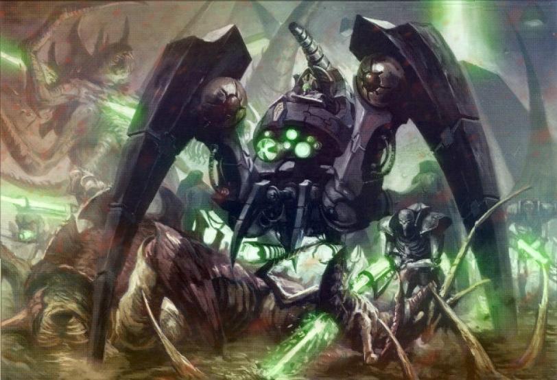 Красивые картинки Арт Warhammer 40K Некрон