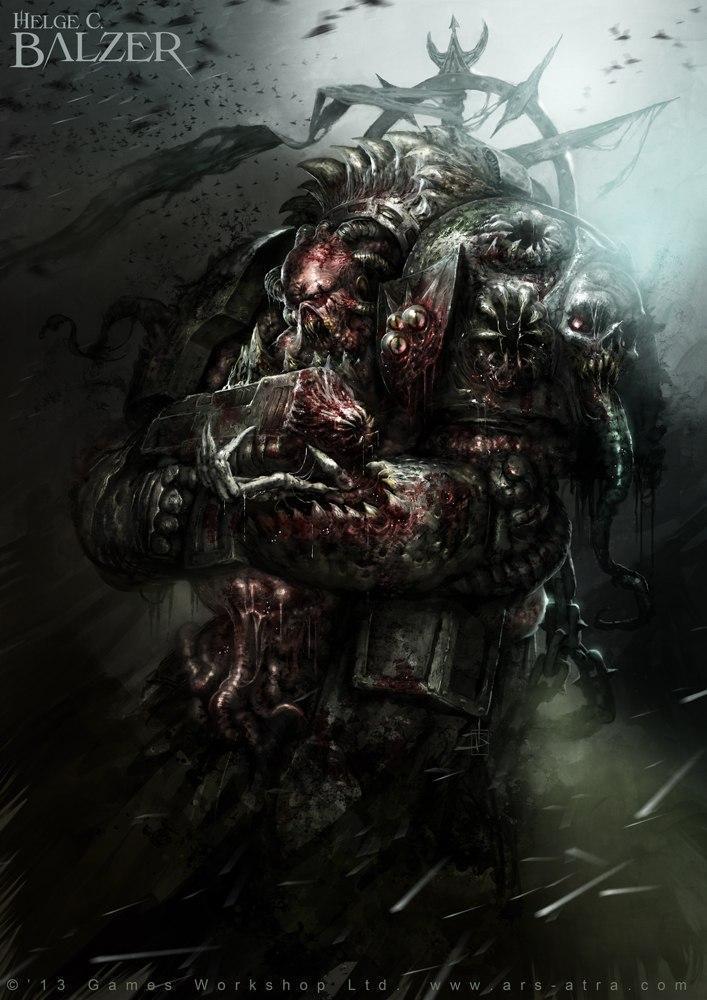 Красивые картинки Арт Warhammer 40K чумной десантник
