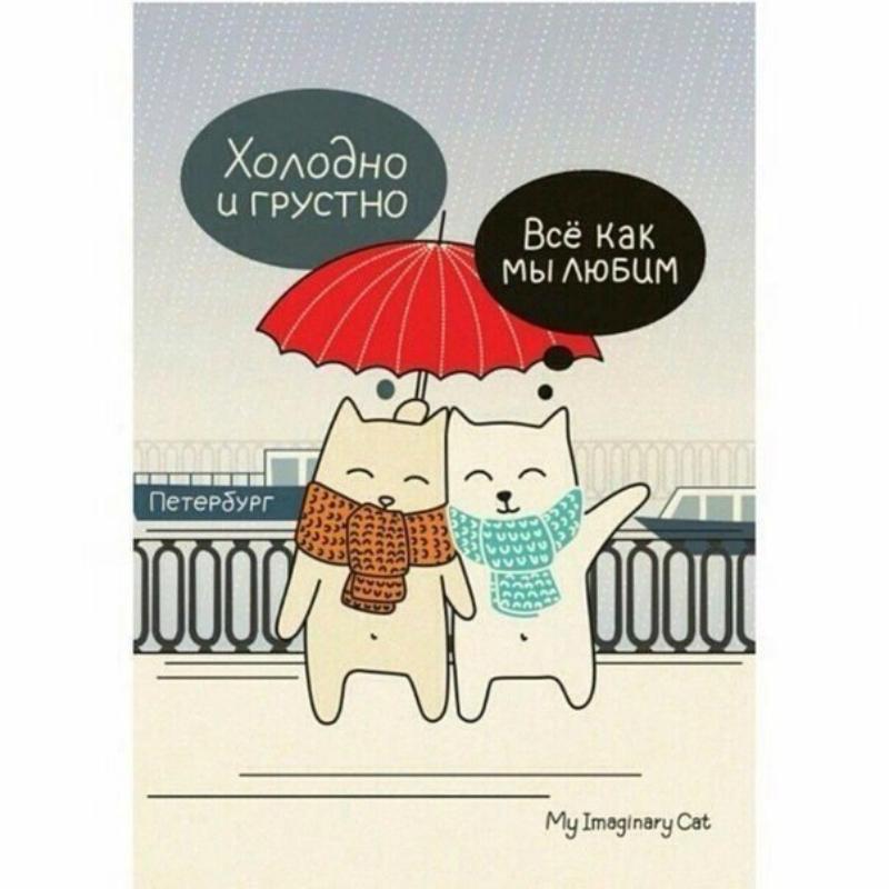 Красивые картинки Арт кот Милота Это Питер, детка)