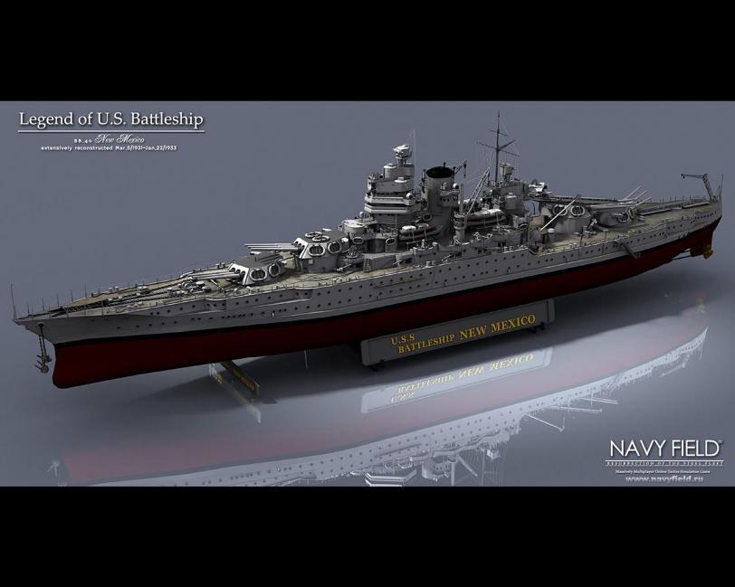 Красивые картинки Обои 3D графика рендер линкор Navy Field