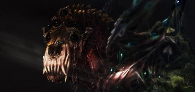 Красивые картинки Арт Warhammer 40K Warp beast