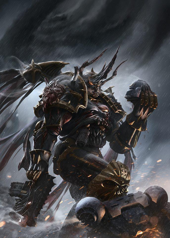 Красивые картинки Арт Warhammer 40K Бедный Йорик автор Kai Lim
