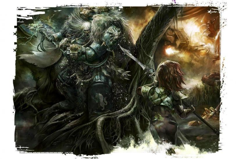 Красивые картинки Арт Warhammer 40K Space Wolves