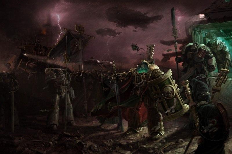 Красивые картинки Арт Warhammer 40K Серые рыцари Hector Rex