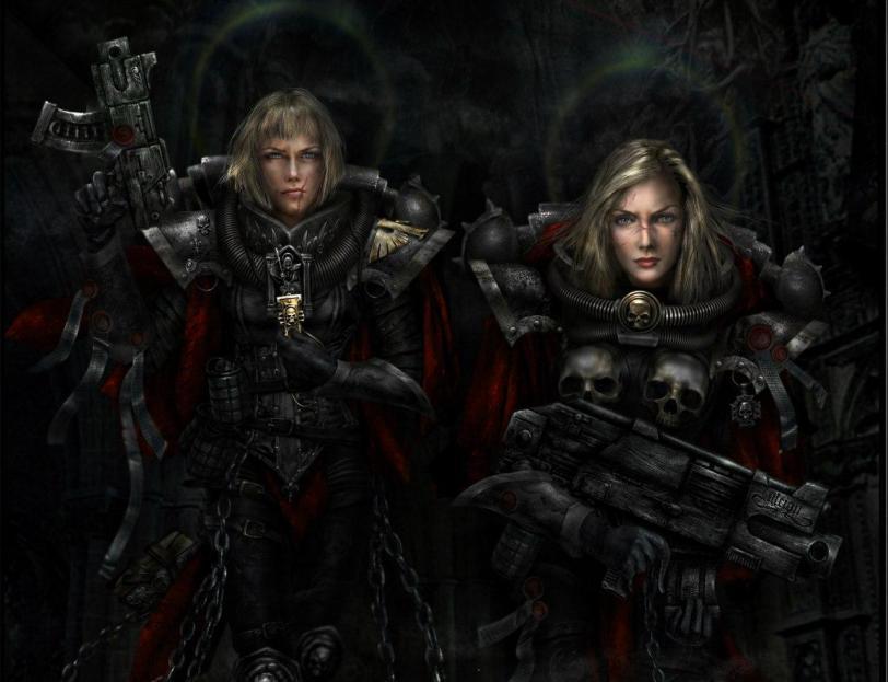 Красивые картинки Арт Warhammer 40K Сёстры битвы