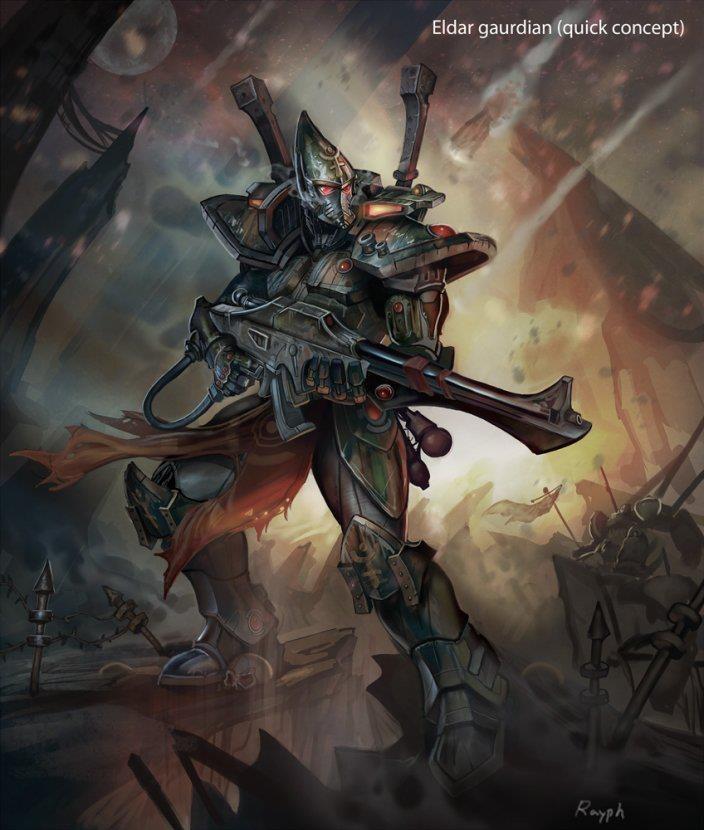 Красивые картинки Арт Warhammer 40K Eldar Rayph