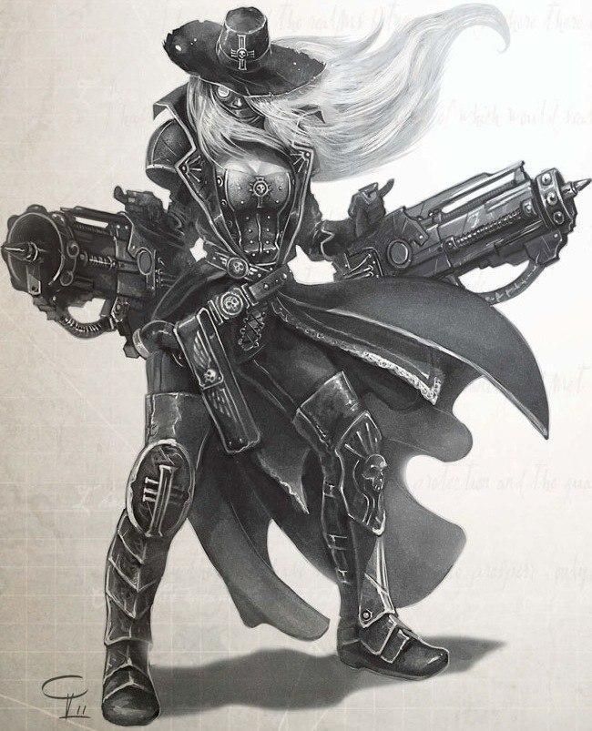 Красивые картинки Арт Девушка Warhammer 40K