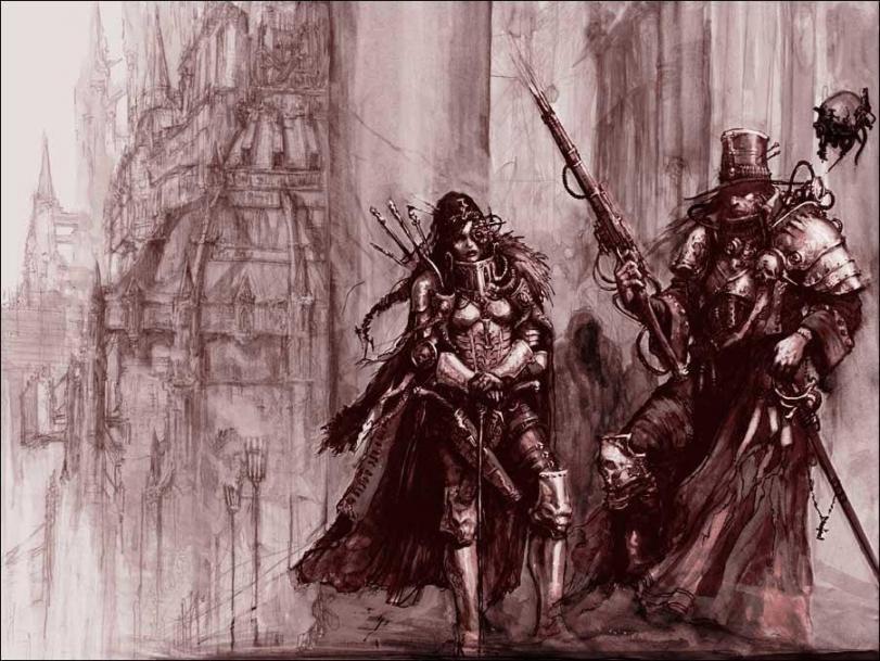 Красивые картинки Арт Warhammer 40K охотники на ведьм