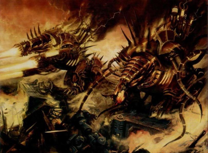 Арт Warhammer 40K Chaos красивые  chaos forgefiend
