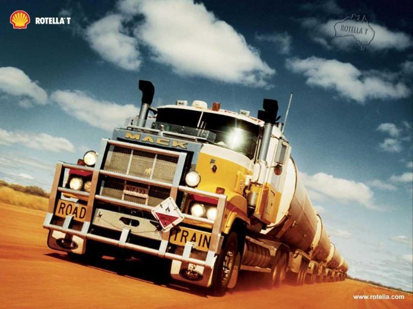 Красивые картинки Фото грузовик MACK road train