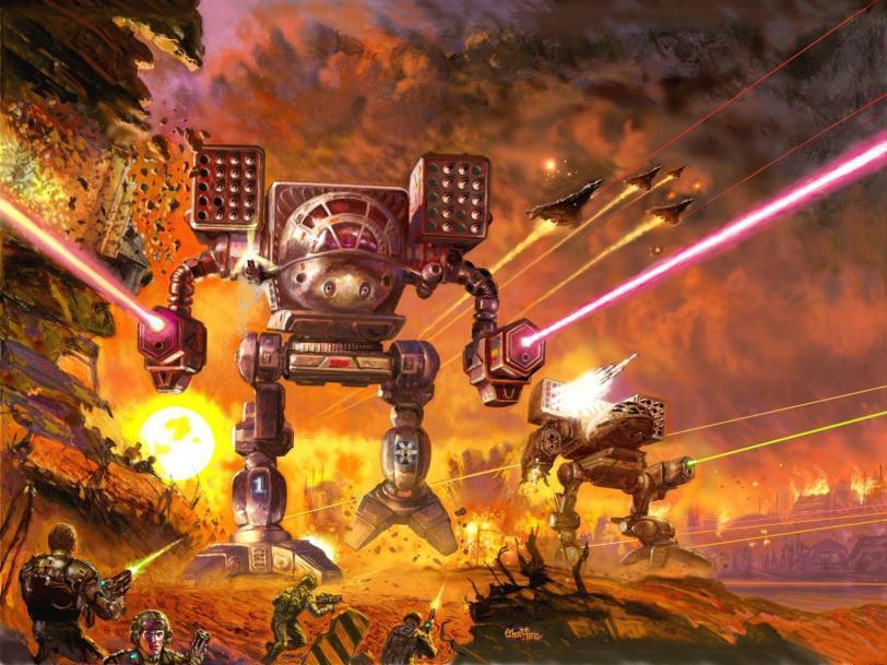 Красивые картинки Арт Battletech мех Mad Cat