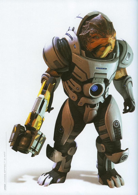 Красивые картинки Арт Sci-fi Mass Effect Grunt Krogan